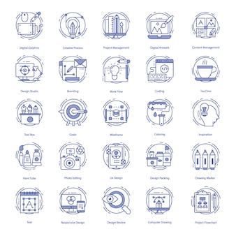 Webdesign-ikonen eingestellt