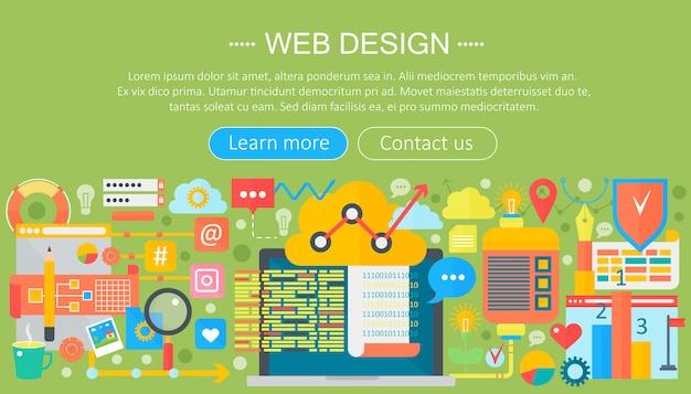 Webdesign-infografik