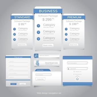 Webdesign-navigationsset.
