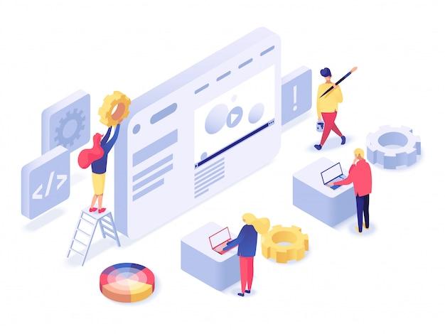 Webdesign und -entwicklung isometrisch