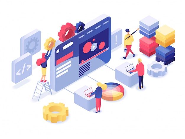 Webentwicklung isometrisch
