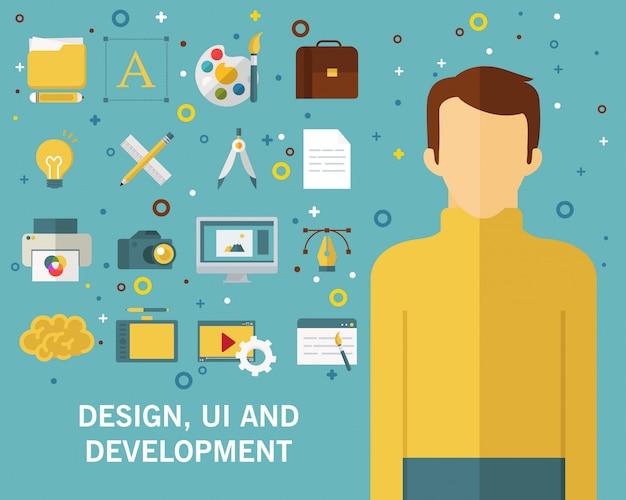 Webentwicklungskonzepthintergrund