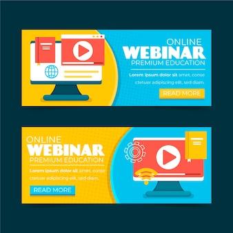 Webinar banner einladungsvorlage illustriert