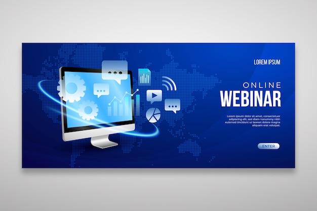 Webinar banner vorlage Premium Vektoren