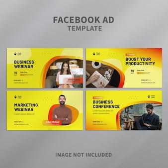 Webinar business facebook-anzeigenvorlage