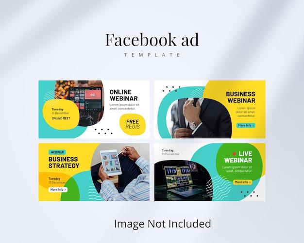 Webinar-facebook-anzeige mit gelbem design
