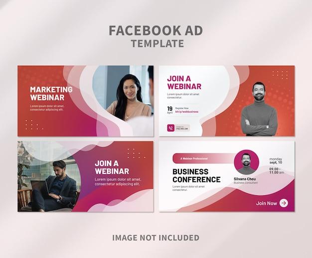 Webinar-facebook-anzeige mit halbton-design