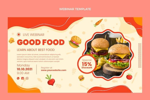 Webinar für gutes essen im flachen design