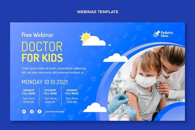 Webinar für kinderarzt mit farbverlauf