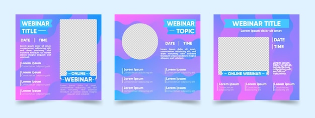 Webinar instagram post template collection