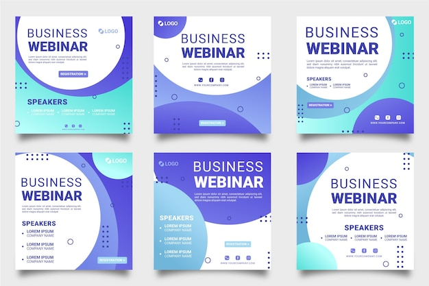 Webinar instagram posts pack