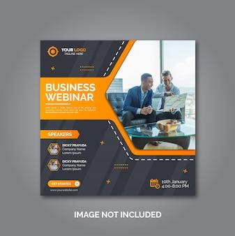 Webinar-konferenzbanner für digitales marketinggeschäft