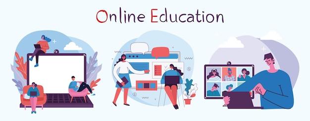 Webinar online-konzept illustration