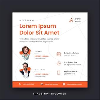 Webinar poster social media vorlage