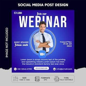 Webinar social media post template-design