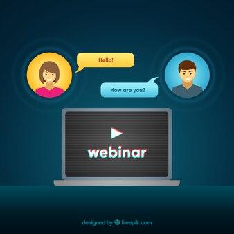 Webinar und chat-konzept