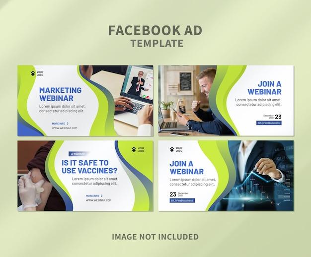 Webinar unternehmens-facebook-anzeigenvorlage