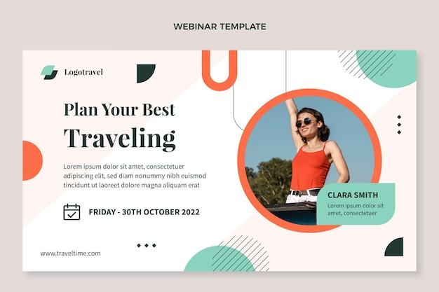 Webinar-vorlage für flache reisen