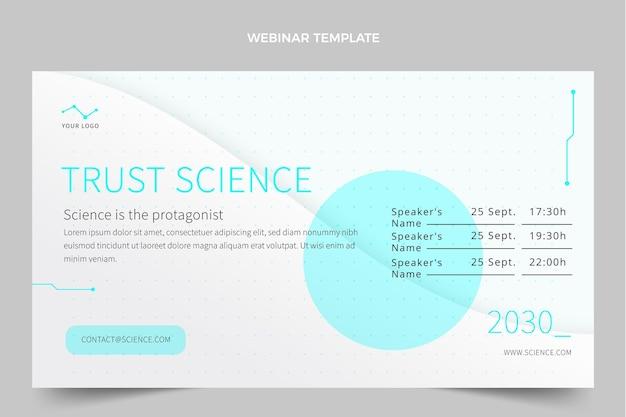 Webinar-vorlage für flache wissenschaft