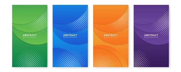 Webinar-vorlage für social-media-beiträge. farbverlauf flüssige abstrakt