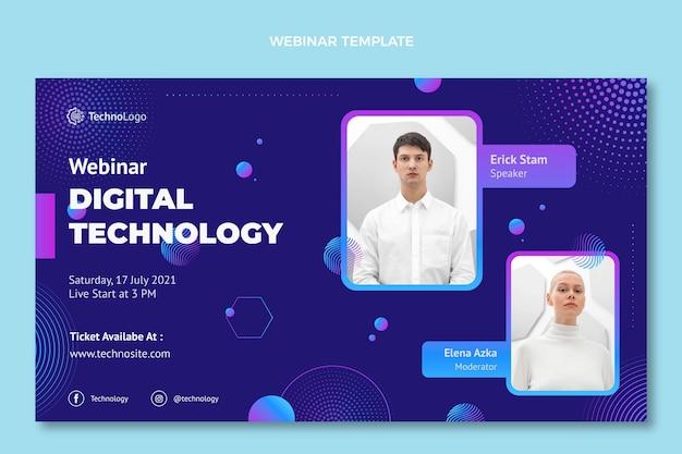 Webinar zur gradientenhalbtontechnologie Kostenlosen Vektoren