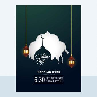 Webramadan kareem design mit moschee.