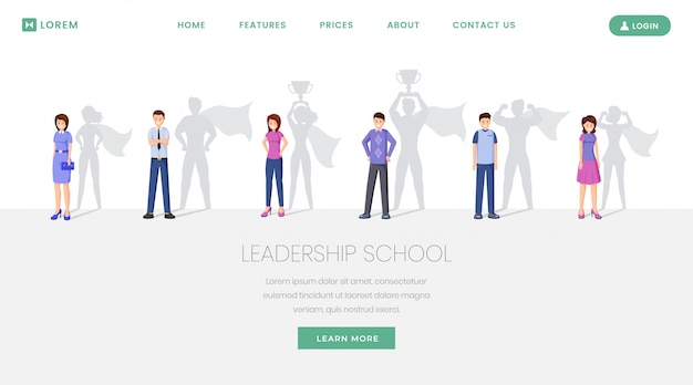 Webseite der leaders school
