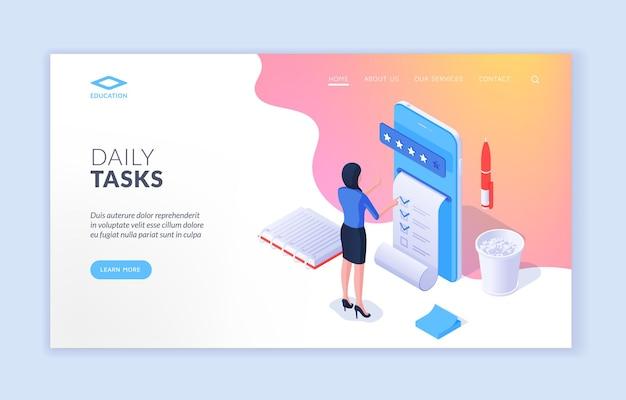 Webseite für tägliche aufgaben