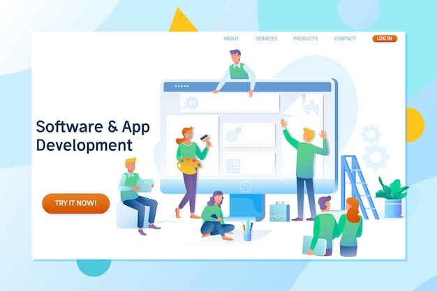 Webseitenerstellung und entwicklung von softwaretechnologie