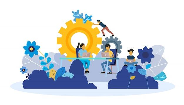 Webseitenvorlage zur analyse, teambildung