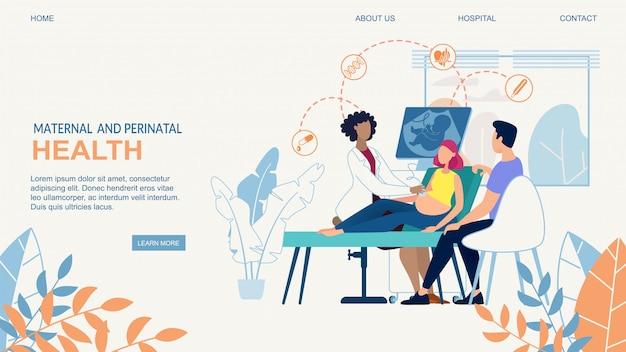 Website banner gesundheit von mutter und kind