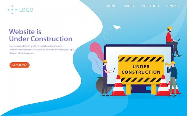 Website befindet sich im aufbau website-vorlage