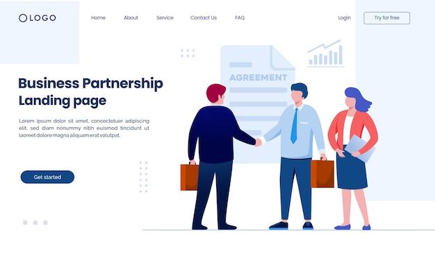 Website der geschäftspartnerschaft-landingpage
