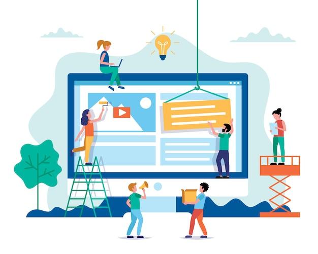 Website-design - erstellung einer website, bearbeitung des layouts.