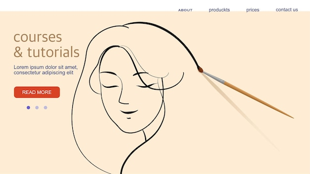 Website-design, horizontales banner, kreative zielseite. vektor-illustration
