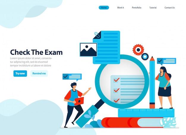Website-design zur überprüfung und bewertung der ergebnisse von studentenprüfungen