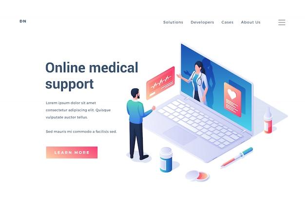 Website für die medizinische unterstützung durch den arzt online
