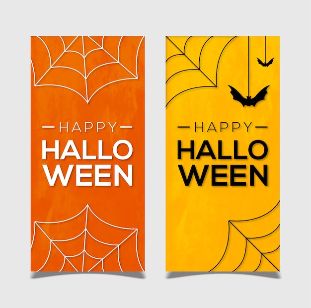Website-header-banner-designs für happy halloween mit fledermäusen