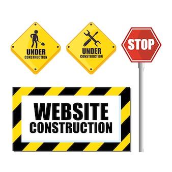 Website im bau hintergrund