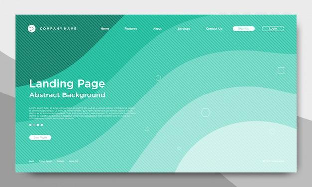 Website-landing page, abstrakter und moderner hintergrund