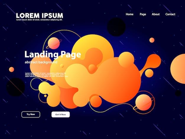 Website-landing-page mit abstraktem wolkenhintergrund