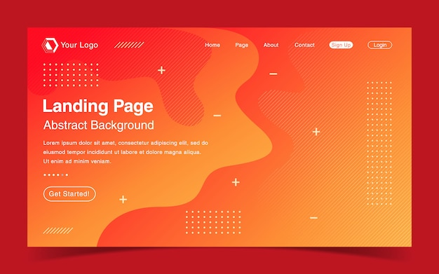 Website-landingpage-vorlage