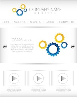 Website mit geras und knopfvektorillustration