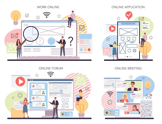 Website-prototyping-onlinedienst oder plattformsatz