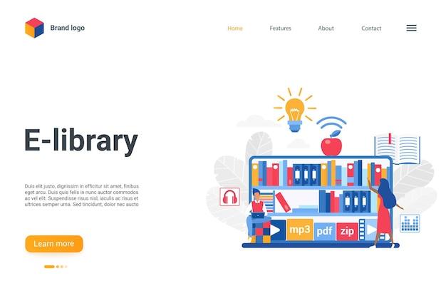 Website-schnittstelle mobile app landing page, konzept