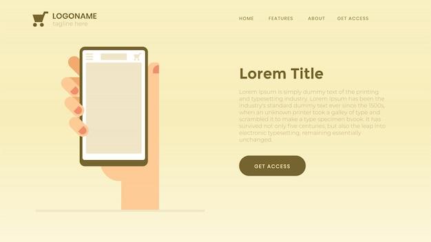 Website-seite des internet-shops