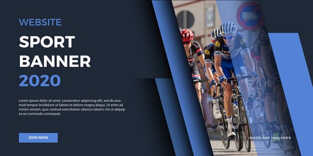 Website sport banner