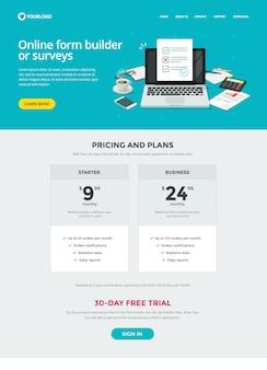 Website-template-design des umfrageformular-erstellers
