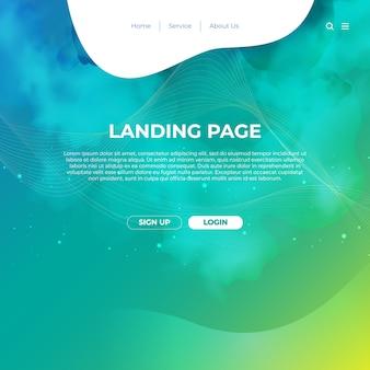 Website template design und landing page line