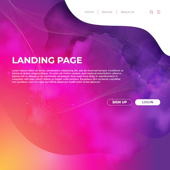 Website Template Design und Landing Page Line
